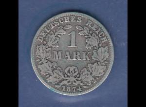Deutsches Kaiserreich Silber-Kursmünze 1 Mark C 1874