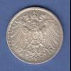 Deutsches Kaiserreich Silber-Kursmünze 1 Mark D seltener Jahrgang 1911