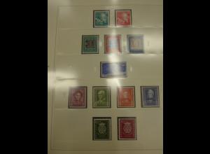 Sammlung Bundesrepublik 1949-1959 kpl. ** (ohne Posthornsatz). Gute Qualität !