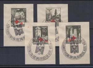 Generalgouvernement 1940 Rotes Kreuz Mi.-Nr. 52-55 Satz 4 Werte kpl. gestempelt