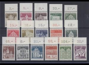Berlin 1966 Dauerserie Bauwerke groß Mi.-Nr. 270-285 alle mit Oberrand **