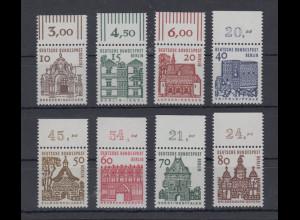 Berlin 1966 Dauerserie Bauwerke klein Mi.-Nr. 242-249 alle mit Oberrand **