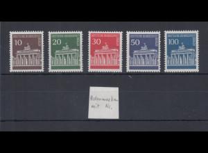 Berlin 1966 Dauerserie Brandenburger Tor Mi.-Nr. 286-290 alle mit Zählnummer **