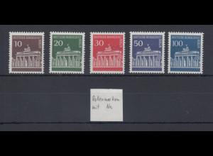 Berlin 1966 Dauermarken Brandenburger Tor Mi.-Nr. 286-290 alle mit Zählnummer **