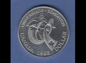 Kanada Silbermünze 1 Dollar 1983 Universiade Edmonton PP