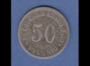 Deutsches Kaiserreich Münze 50 Pfennig 1876 C