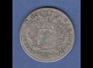 Hamburg 1726 Münze 8 Schilling bzw. 1/2 Mark Currentgeldt