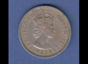 Hongkong Münze 1960 1 Dollar