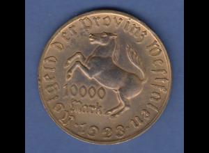 Münze Westfalen Notgeld Inflation 1923 10000 Mark Freiherr v. Stein und Pferd