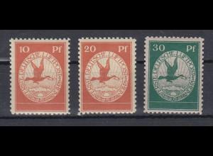 Deutsches Reich Flugpost Rhein-Main Mi.-Nr. I-III Satz 10-20-30 kpl. postfrisch
