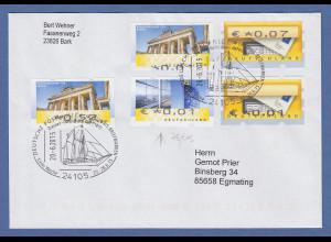 Brief aus Kiel mit 2 verschiedenen ATM-Fehlverwedungen ! 5 FII und 7 FII