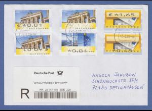 ATM Briefkasten / Tor / Tower R-Brief mit versch. ATM-Besonderheiten