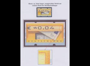 Deutschland ATM Mi.-Nr. 5 mit Druckfehler roter Strich an Briekastenklappe