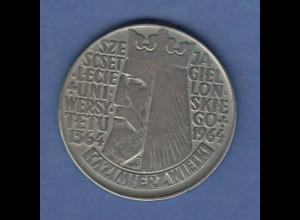 Polen / Polska Gedenkmünze 10 Zloty Universität Krakau Kasimir der Grosse 1964
