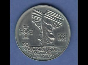 Polen / Polska Gedenkmünze 10 Zloty 25 Jahre Aufstand in Schlesien 1971