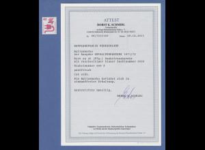 Bund 1972 Unfallverhütung 40 Pfg Rollenmarke mit BLAUER Zählnummer ** ATTEST !