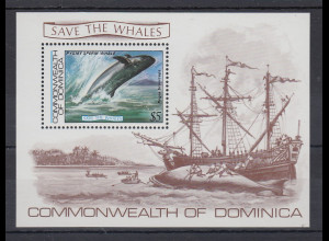 Dominica Mi.-Nr. Block 81 postfrisch ** / MNH Save the Whales
