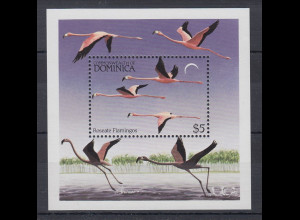 Dominica Mi.-Nr. Block 86 postfrisch ** / MNH Flamingos
