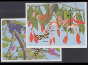 Dominica Mi.-Nr. Block 151-152 postfrisch ** / MNH Schmetterlinge der Karibik