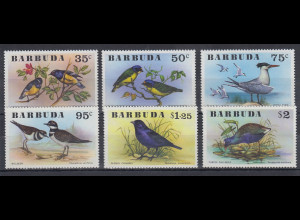Barbuda Mi.-Nr. Satz 261-266 postfrisch ** / MNH Vögel