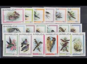 Barbuda Mi.-Nr. Satz 487-504 postfrisch ** / MNH Vögel