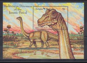 Antigua und Barbuda Mi.-Nr. Block 228 postfrisch ** / MNH Dinosaurier