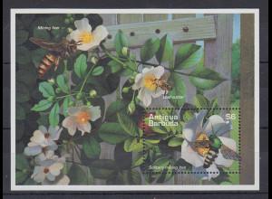 Antigua und Barbuda Mi.-Nr. Block 323 postfrisch ** / MNH Bienen