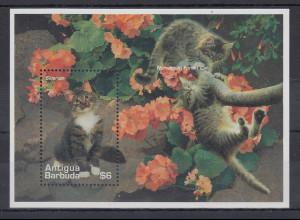 Antigua und Barbuda Mi.-Nr. Block ? postfrisch ** / MNH Katzen