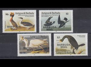 Antigua und Barbuda Mi.-Nr. Satz 801-804 postfrisch ** / MNH Vögel BARBUDA MAIL