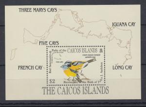 Turks & Caicos Mi.-Nr. Block ? postfrisch ** / MNH Vögel