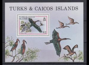 Turks & Caicos Mi.-Nr. Block 21 postfrisch ** / MNH Ibis