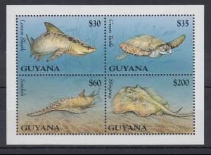Guyana Mi.-Nr. Block ? postfrisch ** / MNH Meerestiere