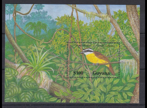 Guyana Mi.-Nr. Block 77 postfrisch ** / MNH Vogel
