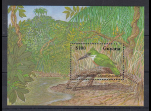 Guyana Mi.-Nr. Block 76 postfrisch ** / MNH Eisvogel