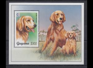 Guyana Mi.-Nr. Block 459 postfrisch ** / MNH Hunde
