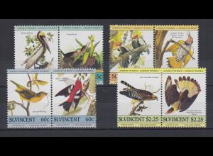 St. Vincent Mi.-Nr. Satz 790-797 postfrisch ** / MNH Vögel