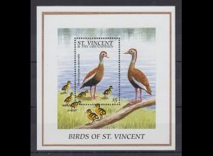 St. Vincent Mi.-Nr. Block ? postfrisch ** / MNH Vögel und Küken