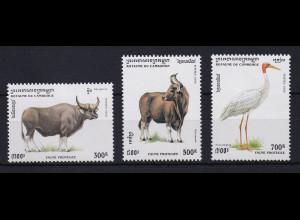 Kambodscha Mi.-Nr. 1511-1513 Satz postfrisch ** / MNH Tiere