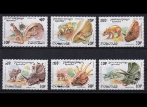 Kambodscha 1995 Mi.-Nr. 1486-1491 Satz postfrisch ** / MNH Dinosaurier