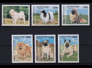 Kambodscha 1997 Mi.-Nr. 1731-1736 Satz postfrisch ** / MNH Hunde