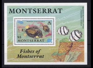 Montserrat 1991 Mi.-Nr. Block 60 postfrisch ** / MNH Fische