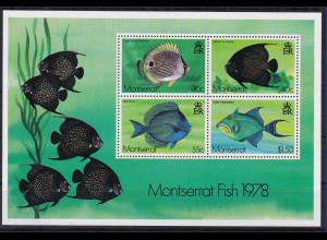 Montserrat 1978 Mi.-Nr. Block 16 postfrisch ** / MNH Fische