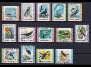 Montserrat 1970 Mi.-Nr. 230-242, 316 Satz postfrisch ** / MNH Vögel