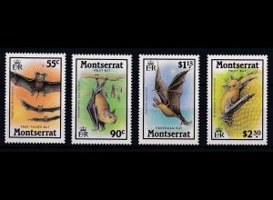 Montserrat 1988 Mi.-Nr. 696-699 Satz postfrisch ** / MNH Fledermäuse