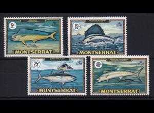 Montserrat 1969 Mi.-Nr. 219-222 Satz postfrisch ** / MNH Fische