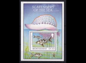 Montserrat Mi.-Nr. Block 72 postfrisch ** / MNH Aasfresser der Meere