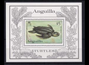 Anguilla 1983 Mi.-Nr. Block 49 postfrisch ** / MNH Schildkröte