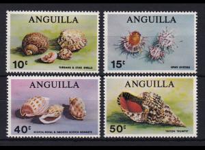 Anguilla Mi.-Nr. 74-77 Satz postfrisch ** / MNH Muscheln