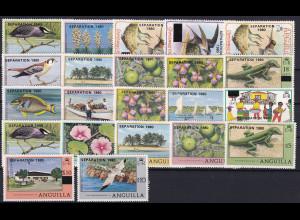 Anguilla 1980 Mi.-Nr. 400-421 Satz postfrisch ** / MNH Separation 1980