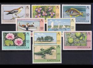 Anguilla 1978 Mi.-Nr. 300-308 Satz postfrisch ** / MNH Freimarken